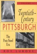 Twentieth-Century Pittsburgh: Government, Business And Environmental Change PDF Download