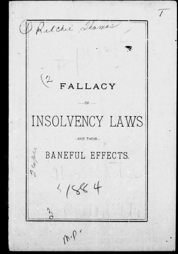 Download Fallacy of insolvency laws and their baneful effects