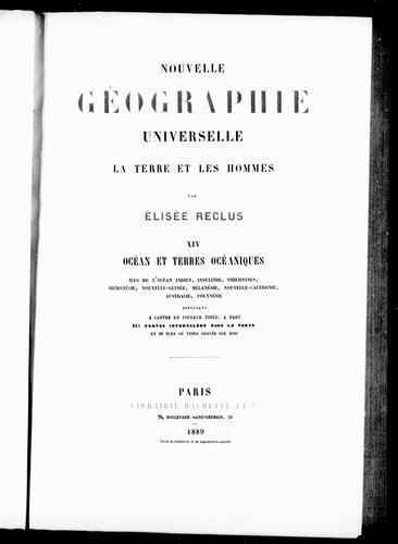Download Nouvelle géographie universelle