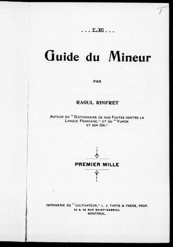 Download Le guide du mineur