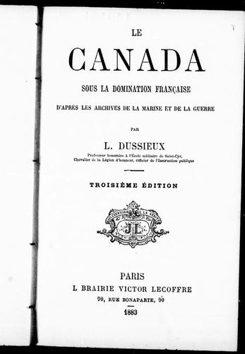 Download Le Canada sous la domination française