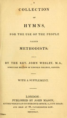 Download A collection of hymns, for the use of the people called Methodists