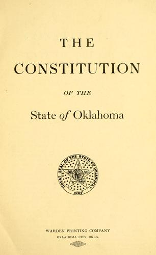 The Constitution of the State of Oklahoma.