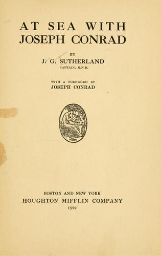 At sea with Joseph Conrad
