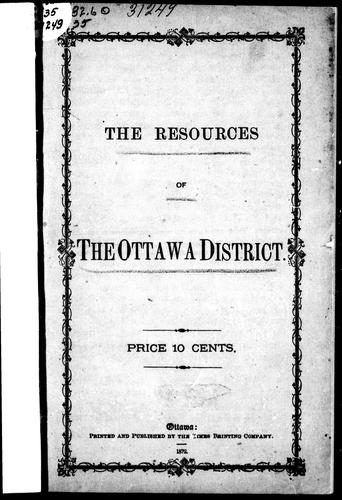 Download The resources of the Ottawa district