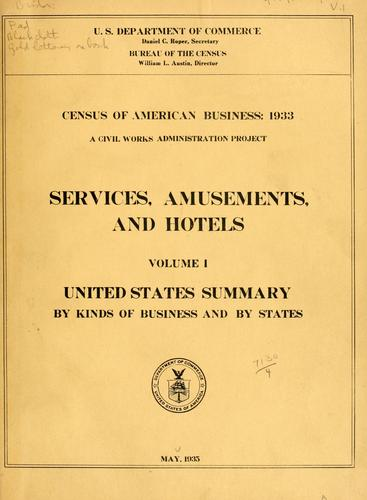 Download Census of American business: 1933.