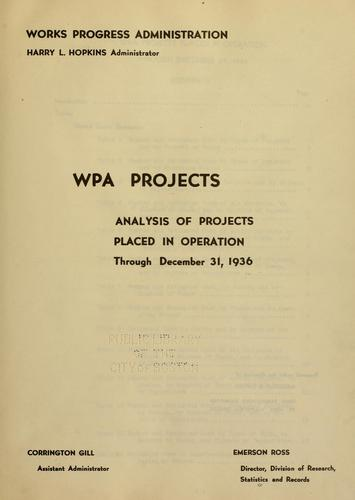WPA projects