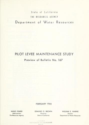 Download Pilot levee maintenance study