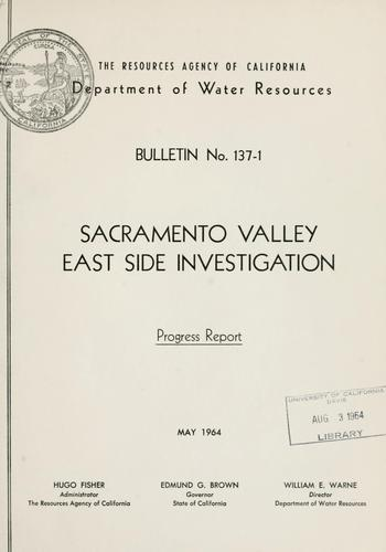Download Sacramento Valley east side investigation