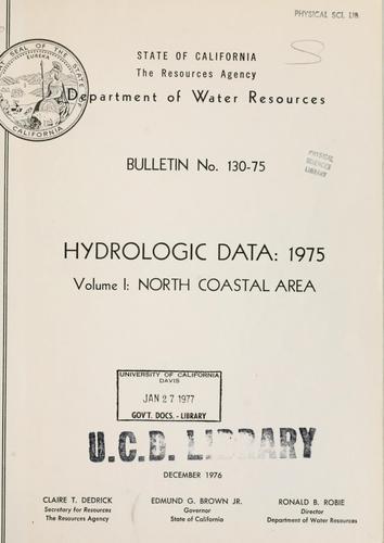 Download Hydrologic data, 1975.