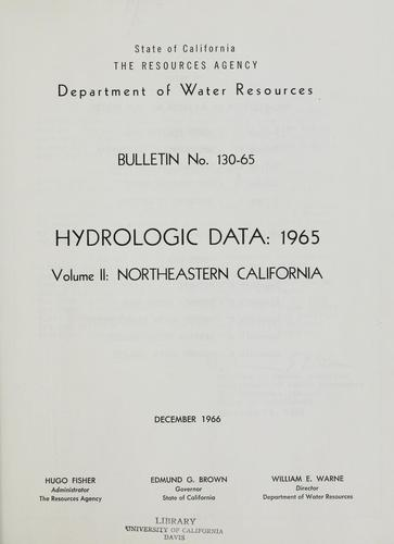 Download Hydrologic data, 1965.