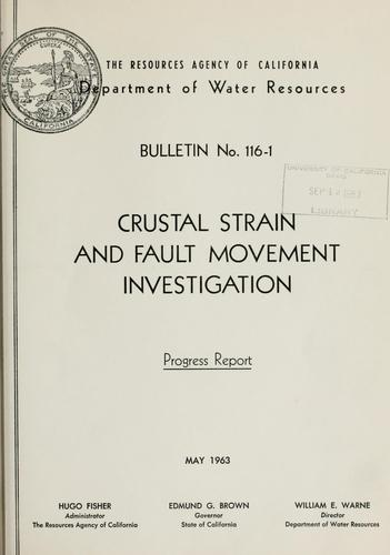 Crustal strain and fault movement investigation