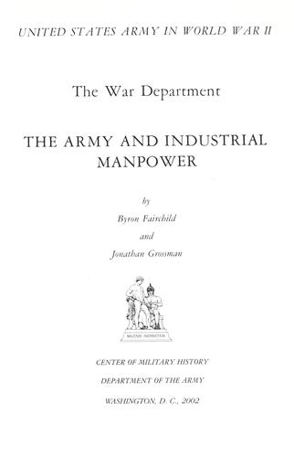 The Army and industrial manpower