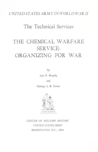 Download The Chemical Warfare Service