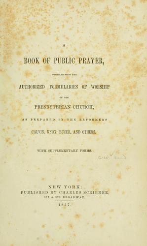 Download A book of public prayer