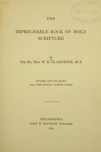 Download The impregnable rock of Holy Scripture