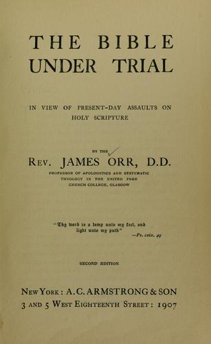 Download The Bible under trial
