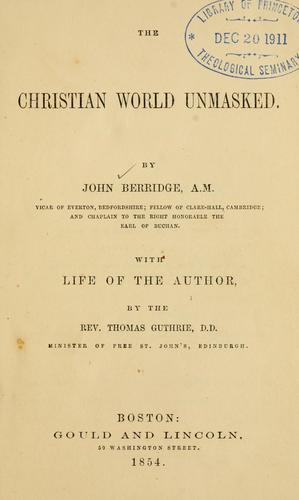 Christian world unmasked