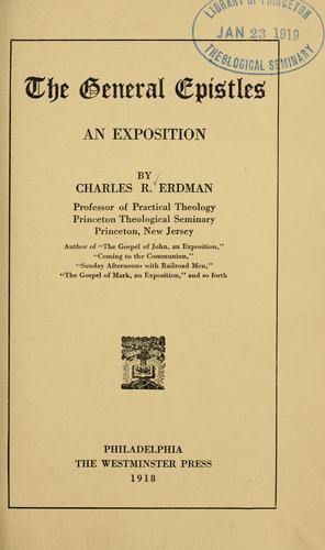 Download The General epistles.