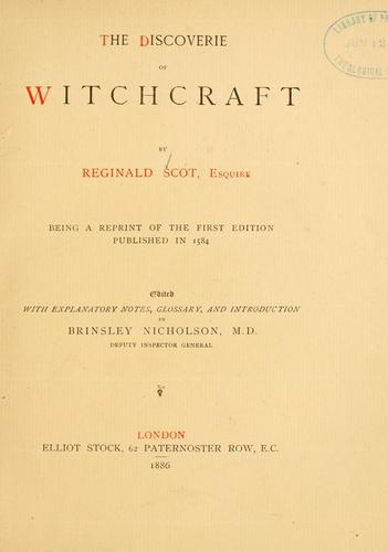 Download The discoverie of witchcraft