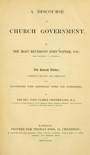 A discourse of church government
