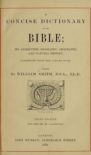A concise dictionary of the Bible …