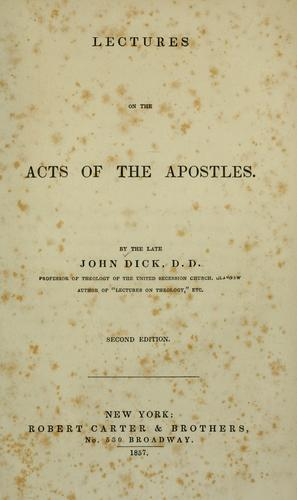 Download Lectures on the Acts of the Apostles.