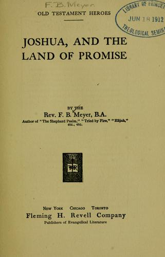 Joshua, and the land of promise.