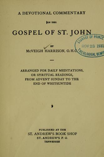 Download A devotional commentary on the Gospel of St. John…