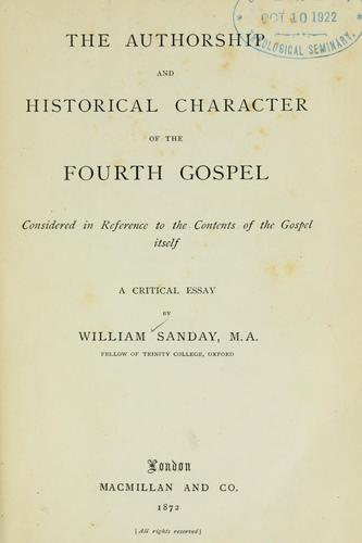 Download The authorship and historical character of the fourth Gospel