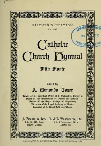 Catholic church hymnal with music