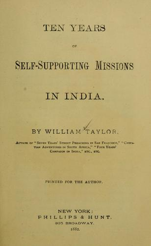 Download Ten years of self-supporting missions in India