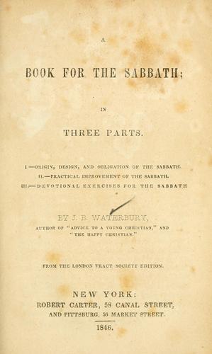 A book for the Sabbath