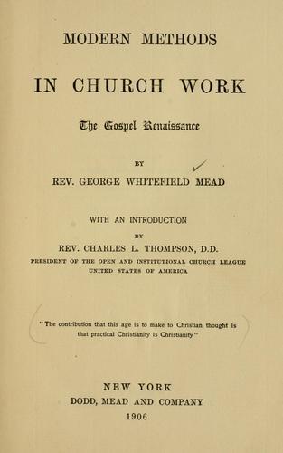 Modern methods in church work