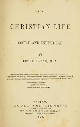 Download The Christian life, social and individual