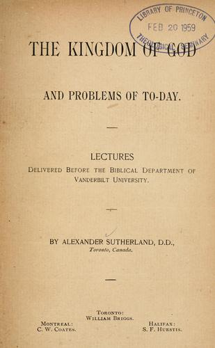 Download The kingdom of God and problems of to-day