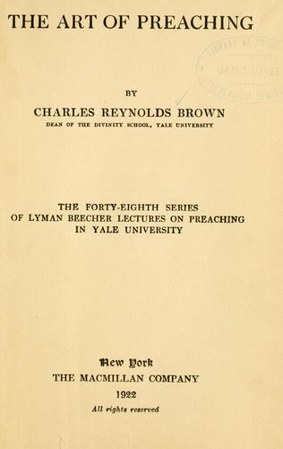 Download The art of preaching