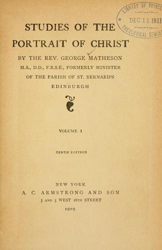 Studies of the portrait of Christ …
