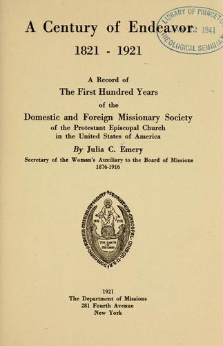 Download A century of endeavor, 1821-1921