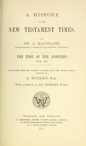Download A history of the New Testament times