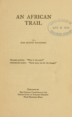 Download An African trail