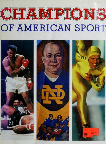 Champions of American sport by Marc Pachter