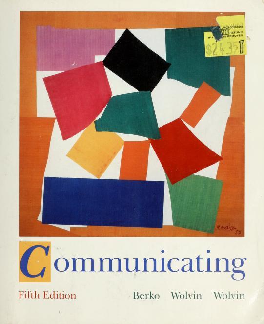 Communicating by Roy M. Berko