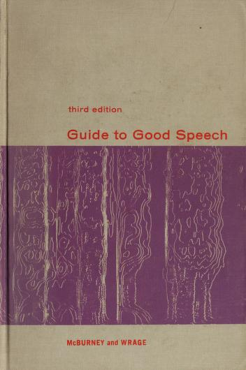 Cover of: Guide to good speech   James Howard McBurney