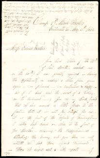 [Letter to] Miss Deborah Weston by Augustus Hesse