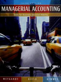 Cover of: Managerial accounting | Jerry J. Weygandt