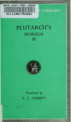 Cover of: Plutarch's Moralia | Plutarch