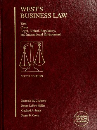 Cover of: West's Business Law | Kenneth W. Clarkson