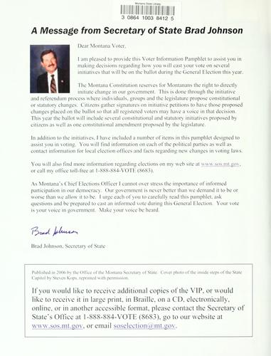 2006 voter information pamphlet by