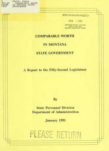 Comparable worth in Montana state government by Paula Stoll